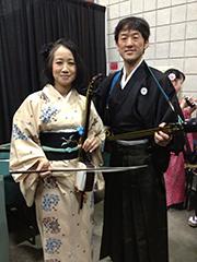 「ハワイ・ホノルルフェスティバル」にて、若林美智子社中(胡弓)と共演