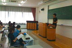 富山医療福祉専門学校看護学科一年生を対象に「民謡」授業
