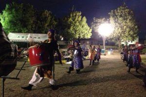 富山市婦中町熊野&上冨居納涼祭にて「なんくるエイサー」の地方として出演