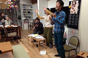 富山市中心商店街「てるてる亭」にて、「邦楽アラカルト出演」 老人施設や障害者施設等で慰問演奏